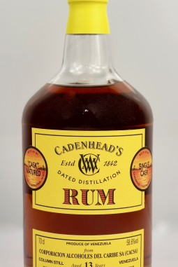 Dated Distillation Rum Venezuela CACSA 13yo 58.6